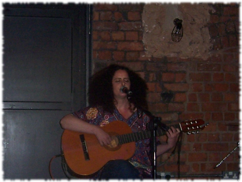 Avital Raz live onstage at the Eagle Inn