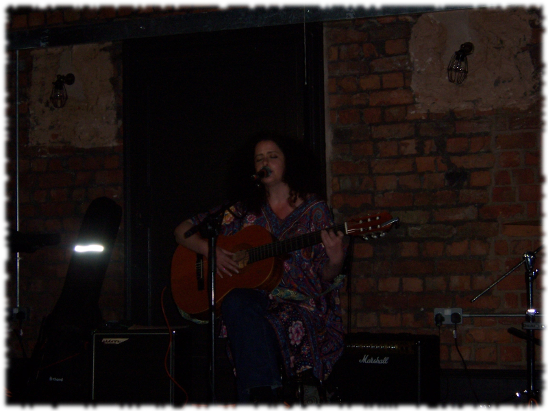 Avital Raz live on stage in Salford