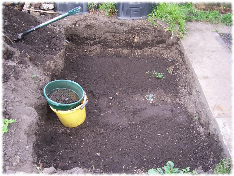 Sieving soil