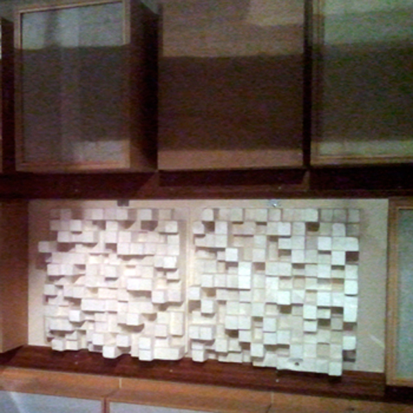 The wall in the Listening Room