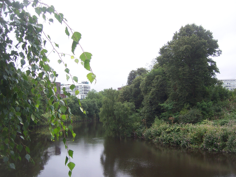 View of the River Irwell from The Old Pint Pot Salford
